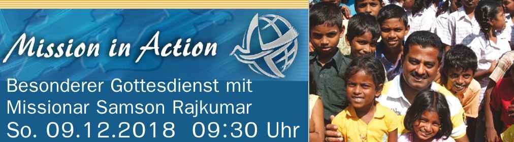 Besonderer Gottesdienst mit Missionar Samson Rajkumar
