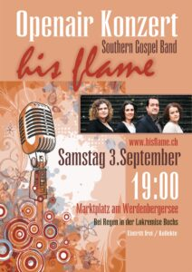 Konzert his flame Gospelband